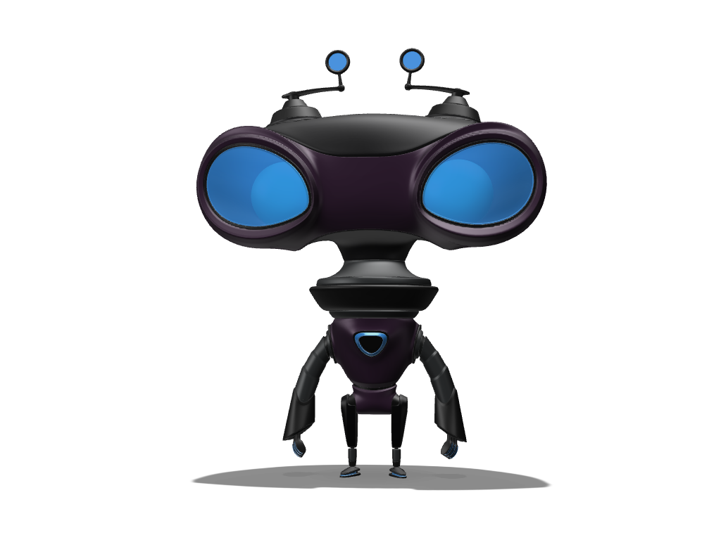 Little robot - 3D design by Johnnyal Sep 26, 2016