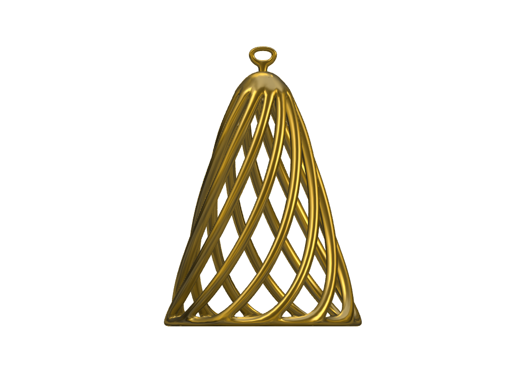 Christmas Tree Ornament - Abstract Tree - 3D design by Adrien Unger on Nov 18, 2017