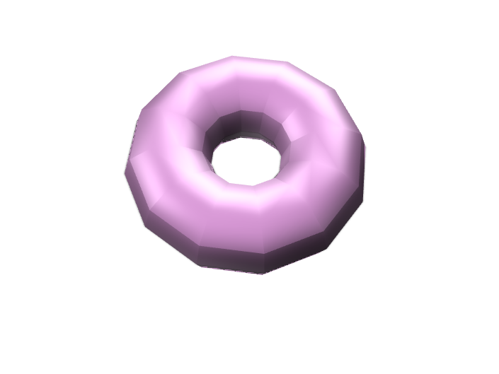 Pink Donut - 3D design by nora.cox.2024 on Dec 14, 2017