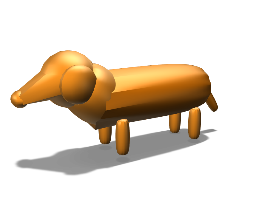 Toy Weiner Dog - 3D design by nosuna21 Jan 18, 2018