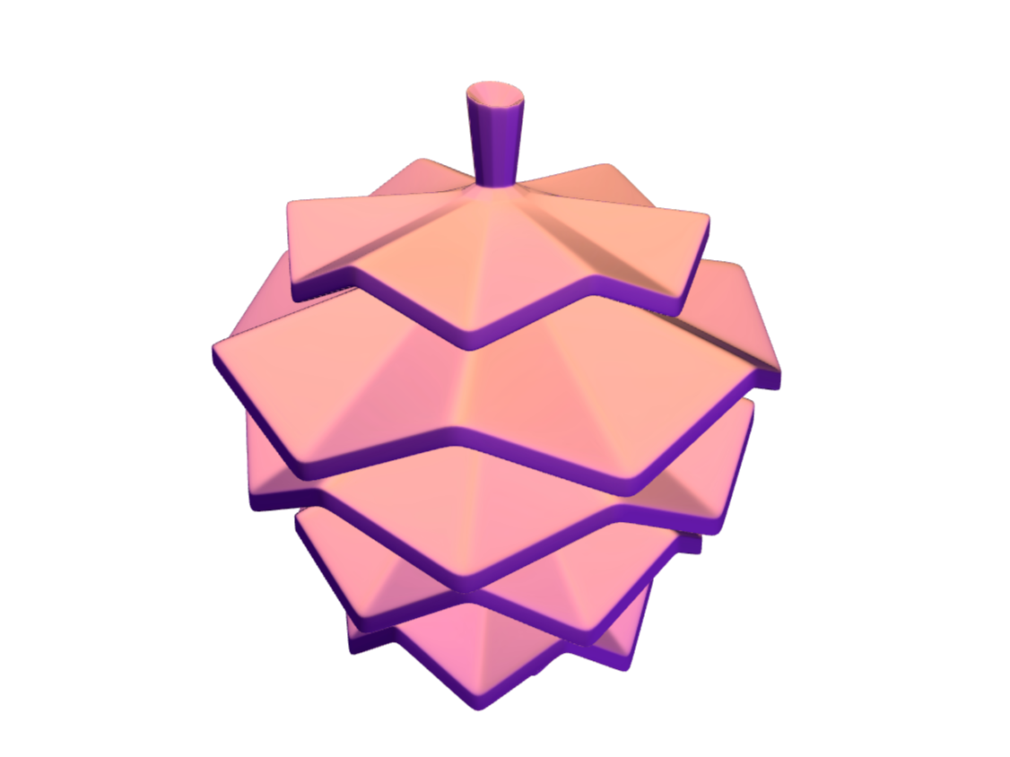 LOWPOLY pinecone - 3D design by Adrian Nov 13, 2017