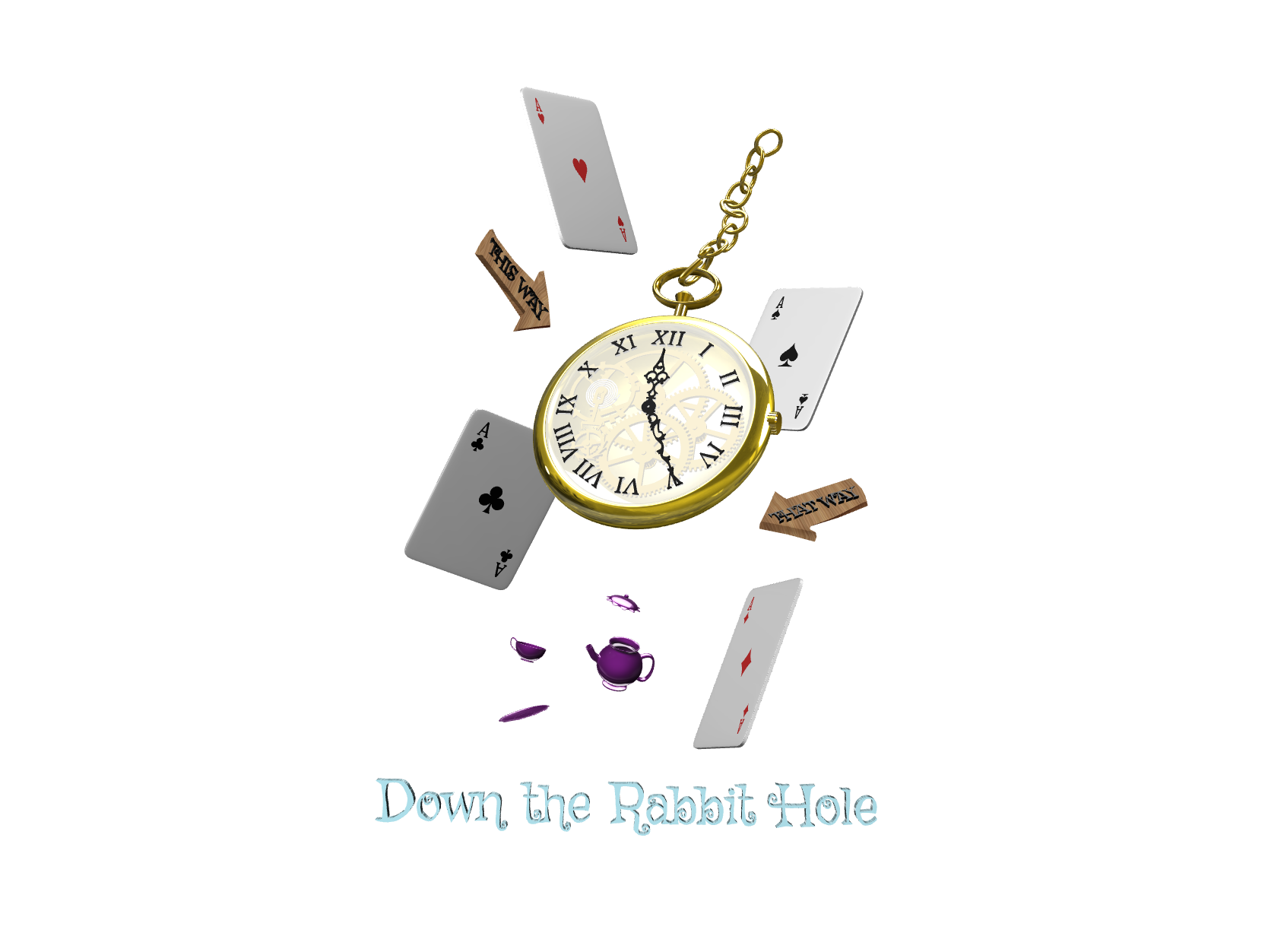 Down the Rabbit Hole - 3D design by Rei.T May 1, 2018