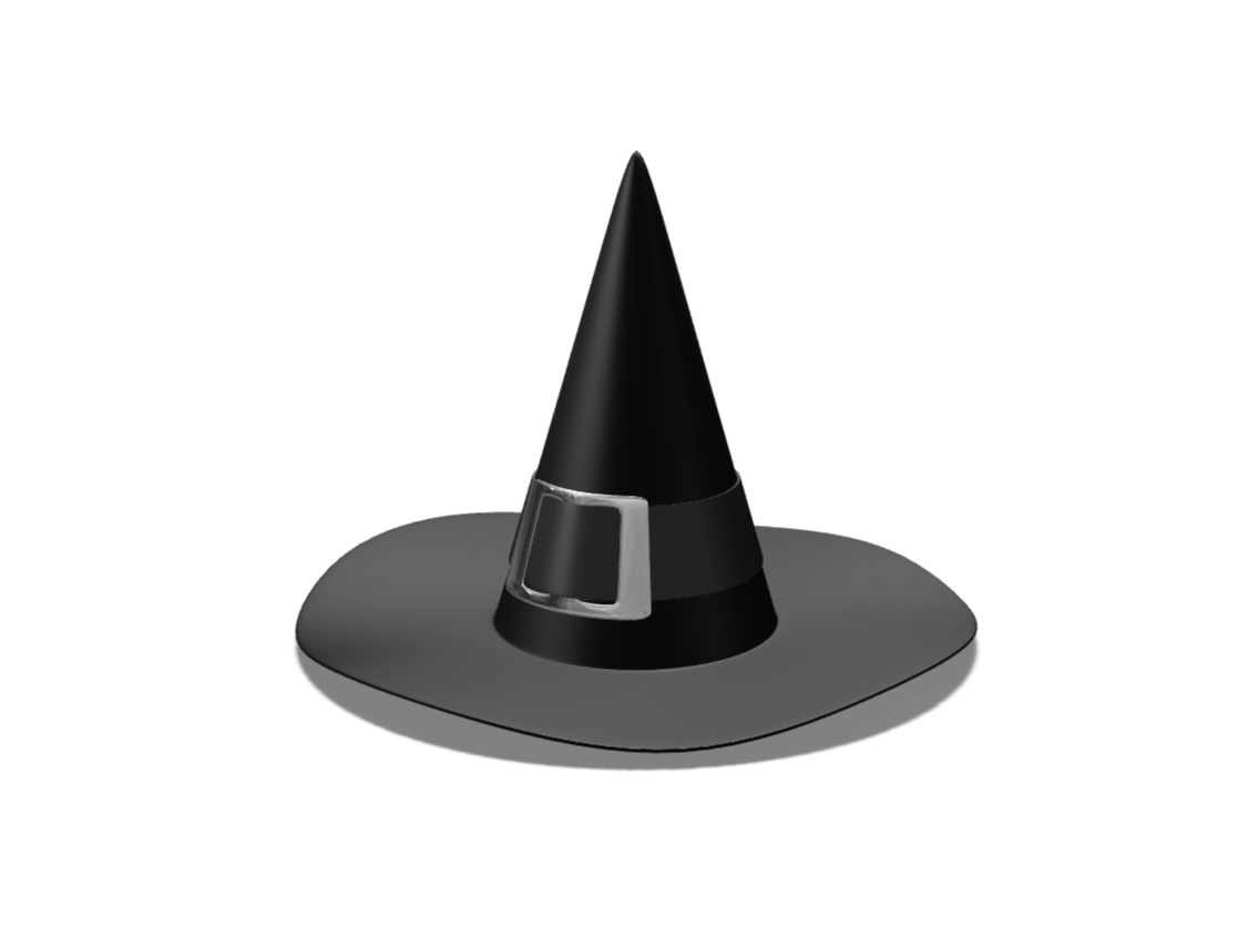 Witch hat - 3D design by VECTARY Oct 17, 2017