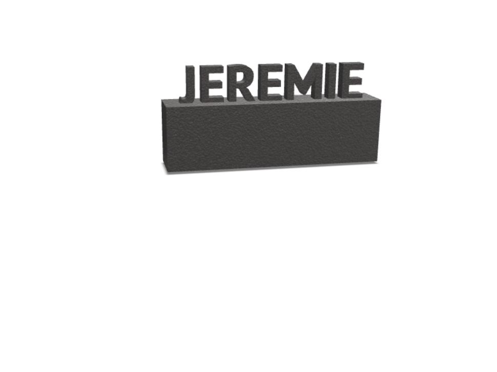 JEREMIE - 3D design by Jérémie Michaud on Aug 12, 2017