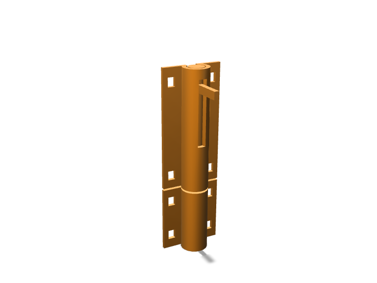 Door Lock Simple #1 - 3D design by abdullatest1010 Oct 13, 2017