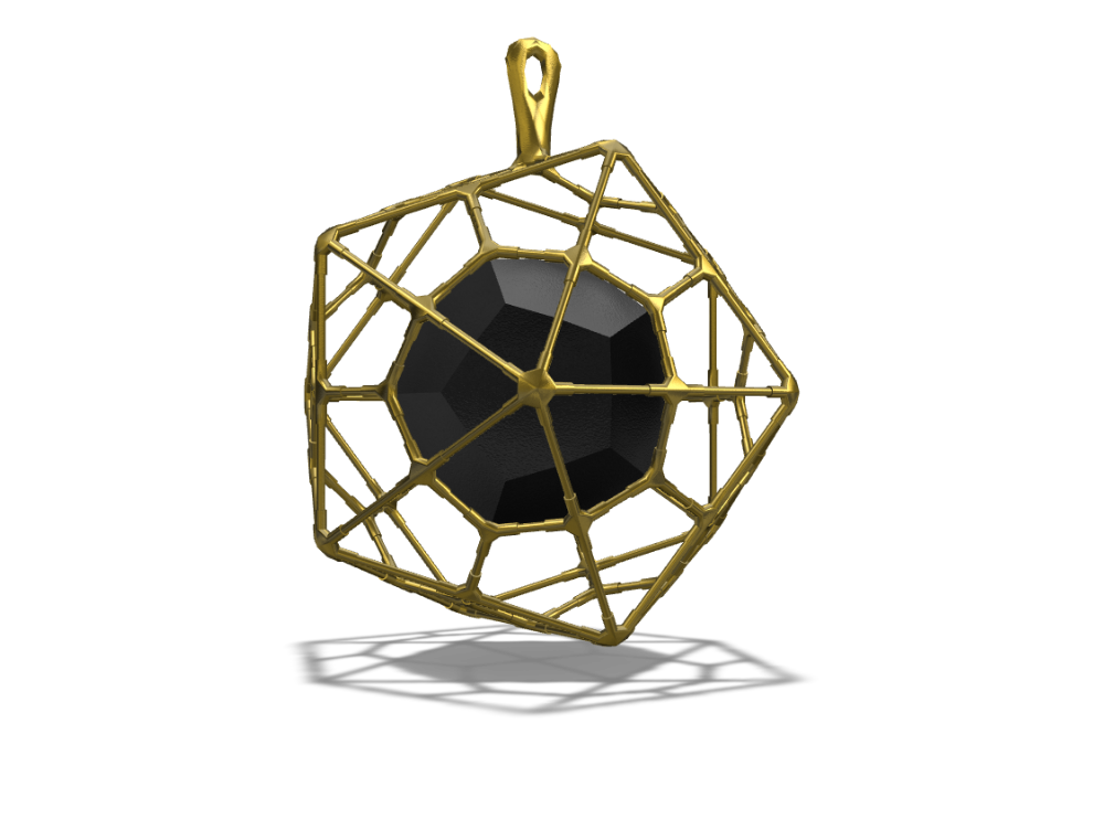 JEWELLERY I PLATO GEOMETRY NECKLACE TALISMAN - 3D design by Toma Aug 20, 2017