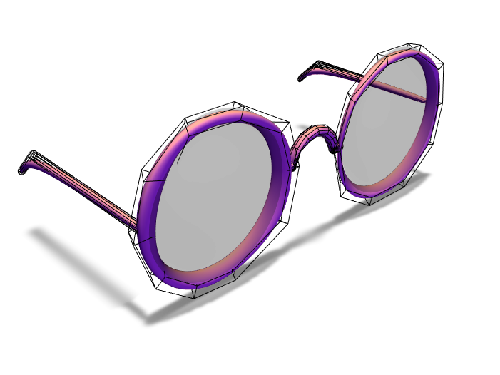 3D Glasses Female - 3D design by Mike Pugh Jan 13, 2018