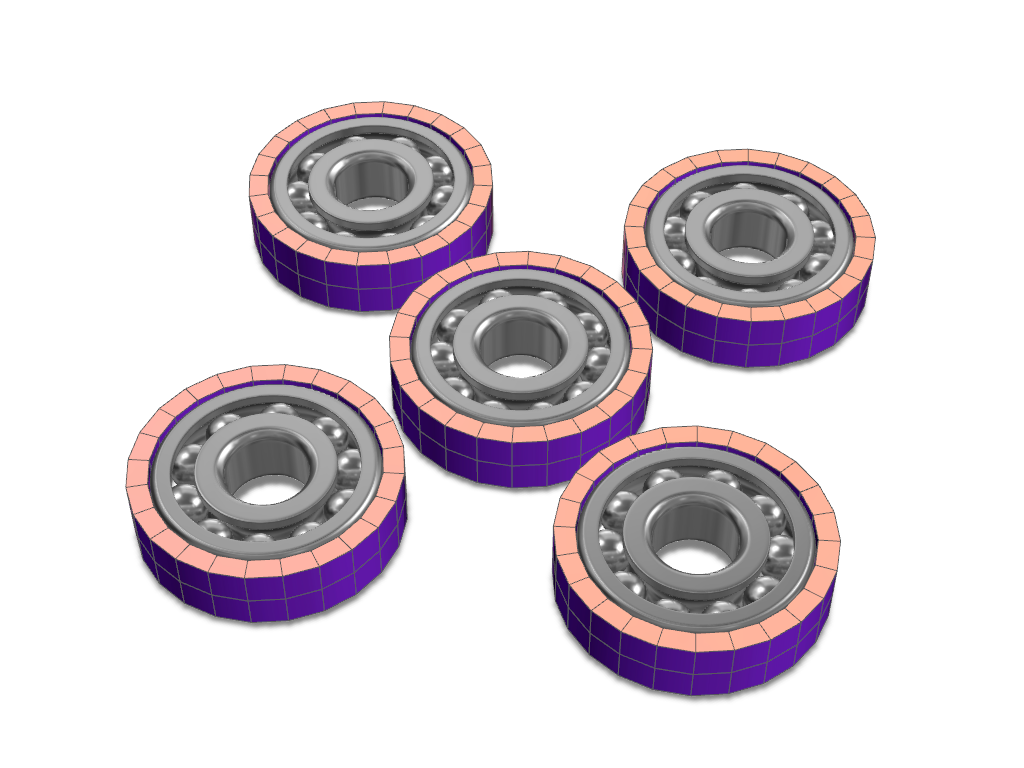 Fidget spinner template |5 bearings - 3D design by VECTARY Jun 21, 2017