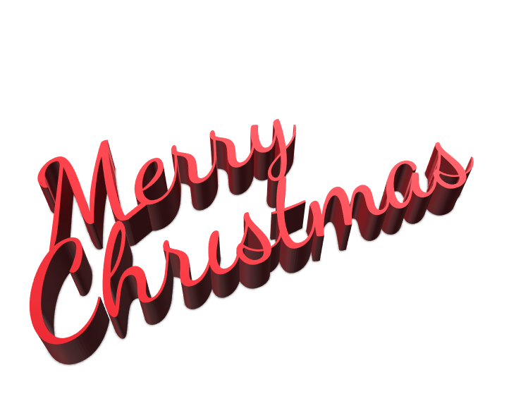 Merry Christmas sign - 3D design by Luciana Oluvres Dec 19, 2017
