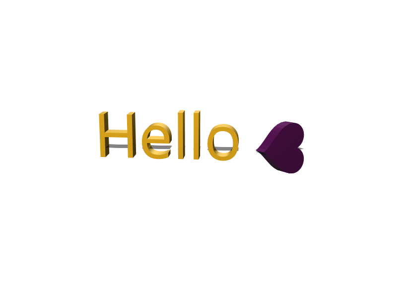 Hello - 3D design by Ingie Hiddleston on Mar 18, 2018