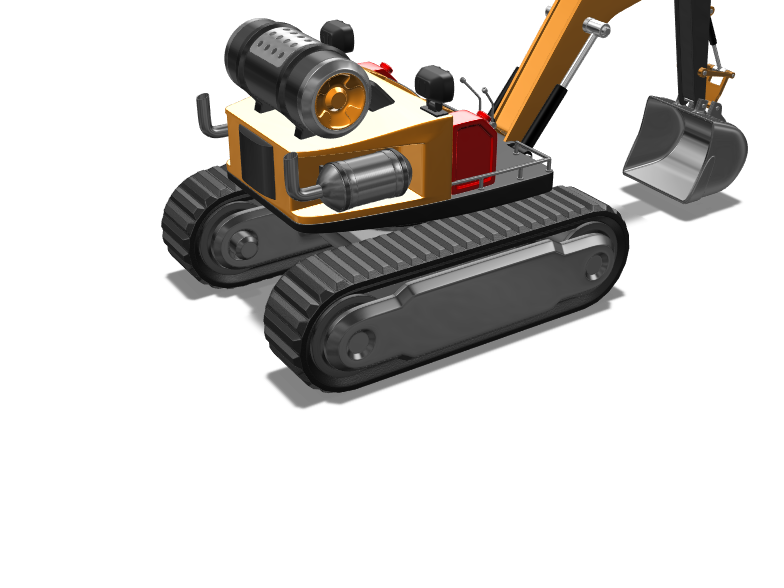 Excavator - 3D design by willcrocker14 on Jan 29, 2018