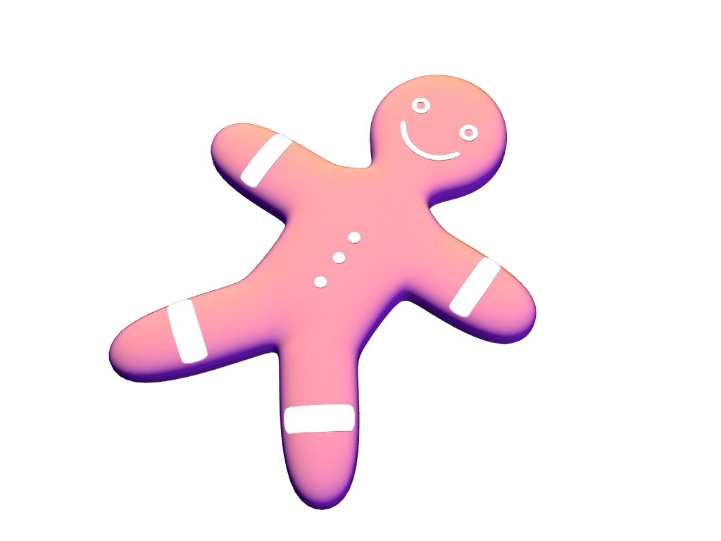 Gingerbread man - Christmas bauble - 3D design by VECTARY Dec 7, 2017