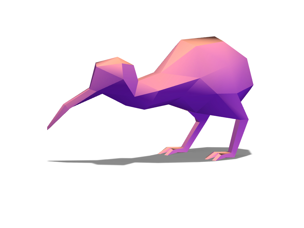 Kiwi 1 - 3D design by VECTARY Nov 1, 2016