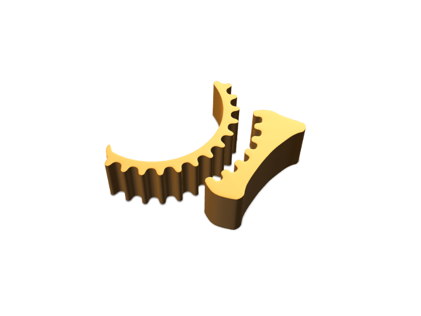 Gear Phone Holder - 3D design by Odds and Ends Aug 23, 2017