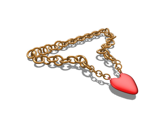 gangsta love necklace made of fool's gold - 3D design by Sergiu Bancos Feb 3, 2017