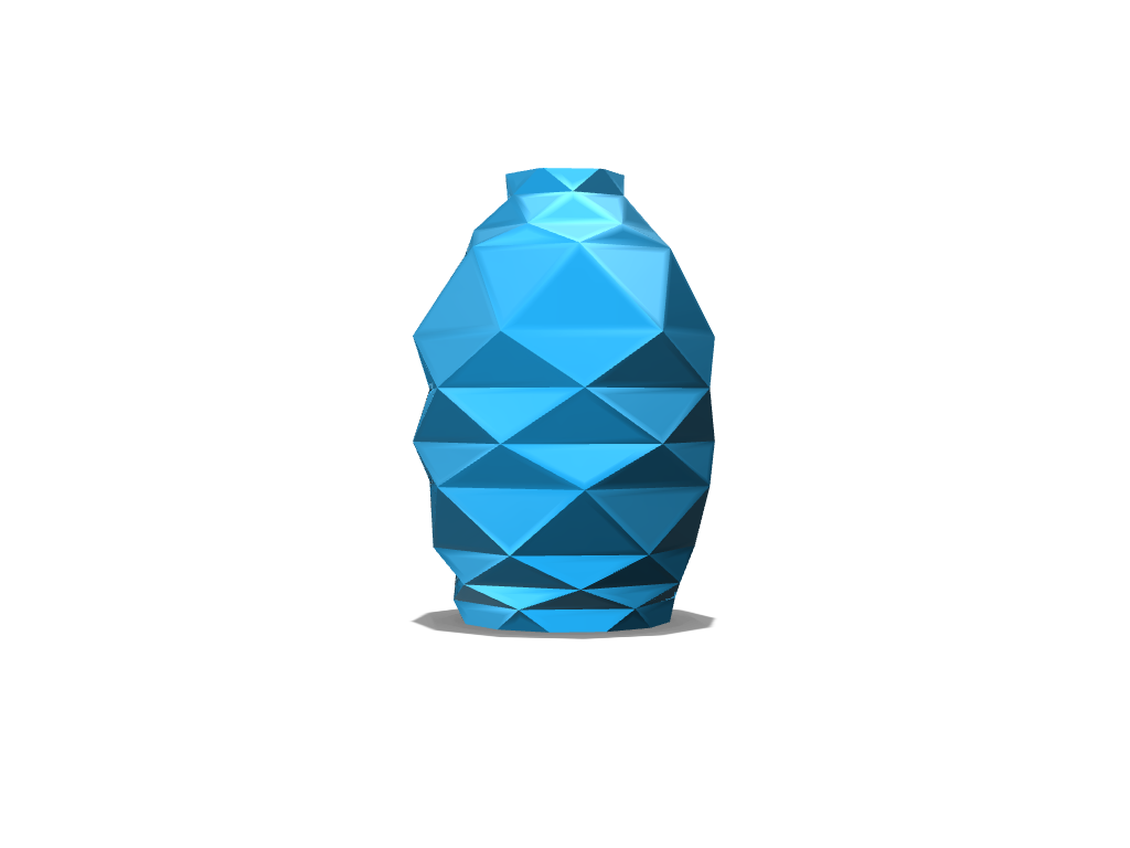 Low Poly Vase  - 3D design by z_farley on Aug 24, 2017