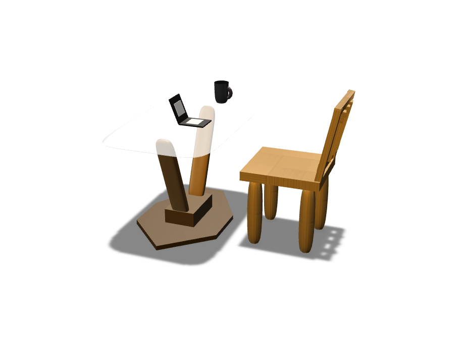 chair and table - 3D design by gcavazzuti21 on Nov 10, 2017