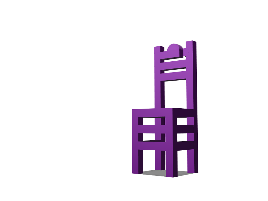 Heights Chair Model - 3D design by Kristoff Sison Mar 6, 2018