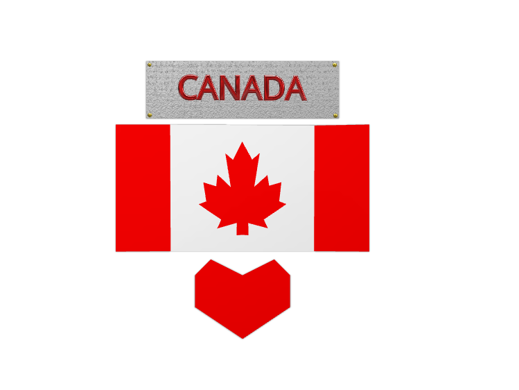 Canadian Flag - 3D design by Dylan Manion Oct 11, 2017