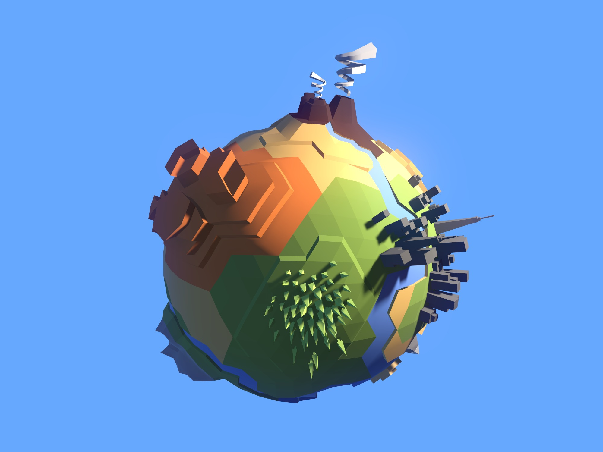Low Poly Planet Template - 3D design by Vectary templates Yesterday at 8:53 AM