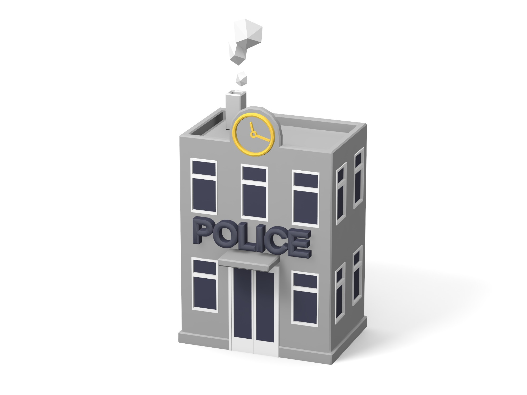 Police station building - 3D design by Vectary assets Aug 20, 2018
