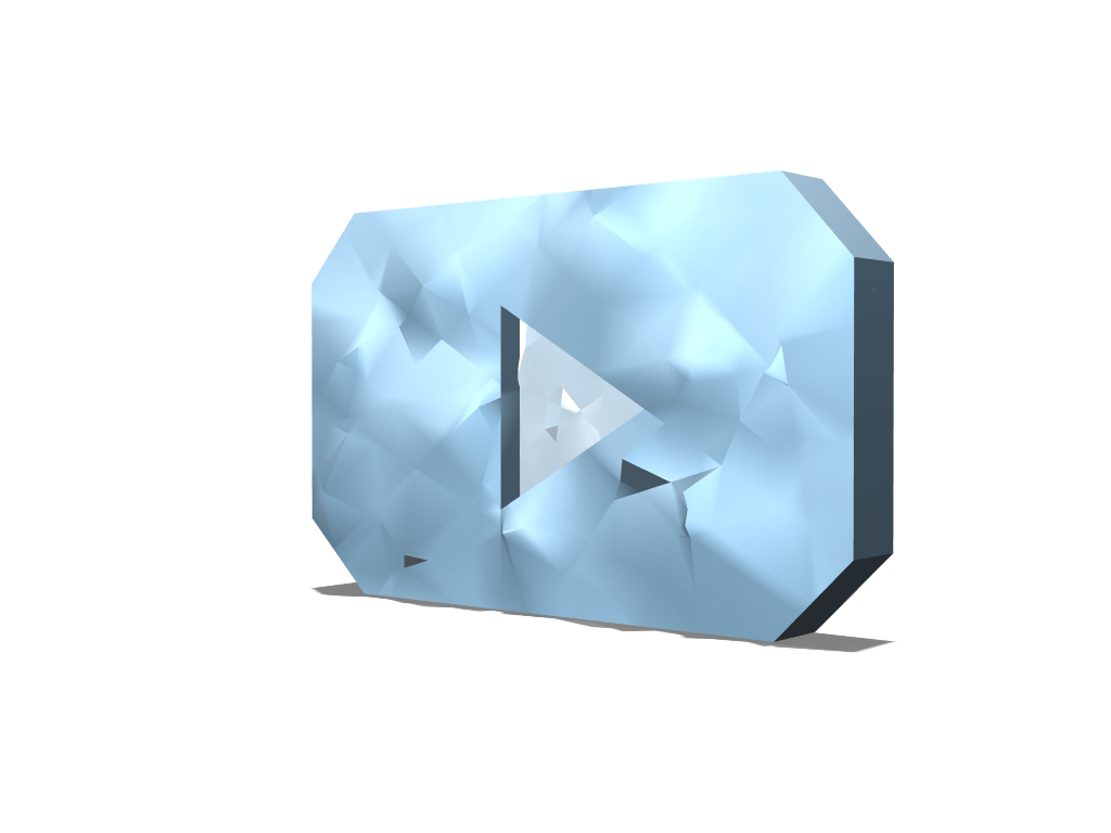 DIAMOND BUTTONS YOUTUBE - 3D design by pineapple_elza on Mar 31, 2018