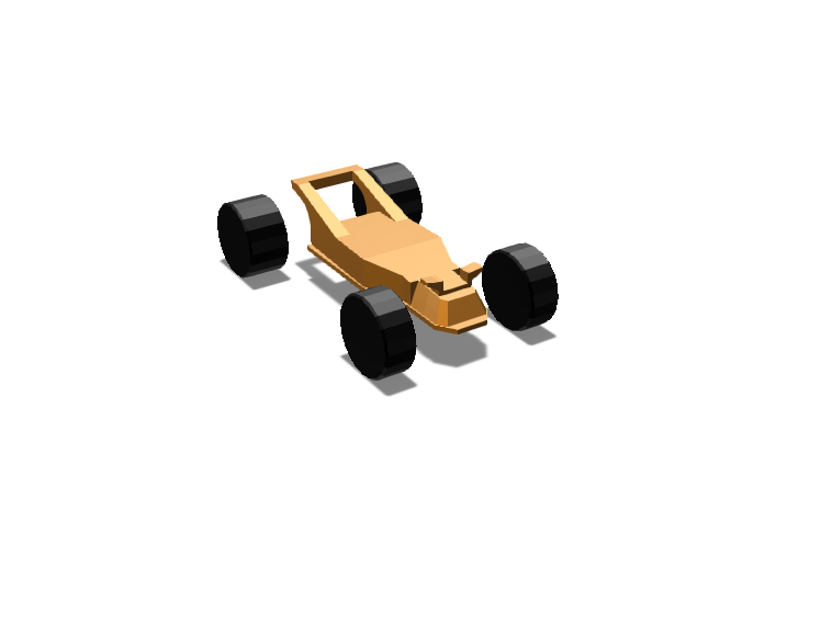 Toy car chassis template recolored - 3D design by michaeldonohue Jan 31, 2018