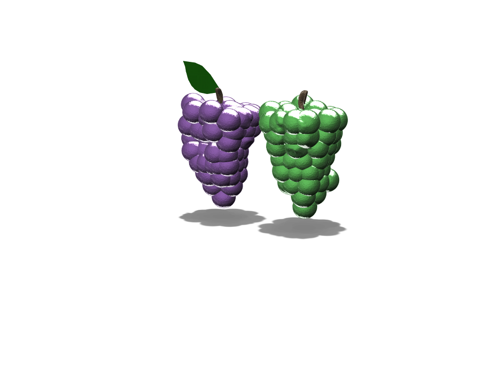 Grapes - 3D design by pineapple_elza on Jan 31, 2018