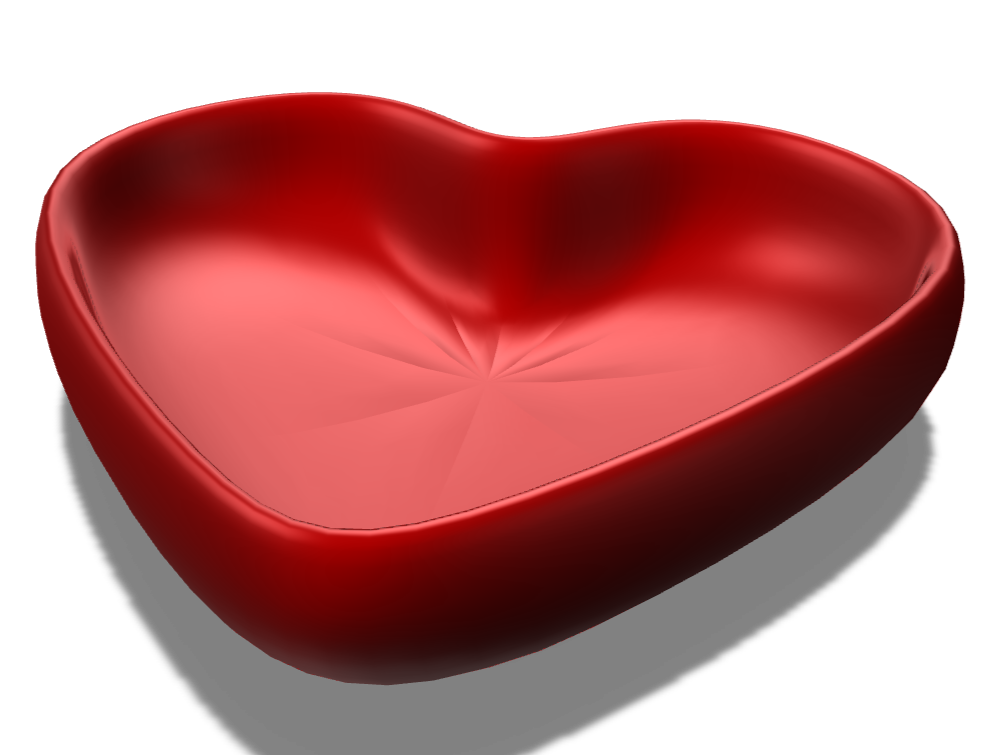 Heart Bowl - 3D design by bbclements66 on Apr 20, 2018