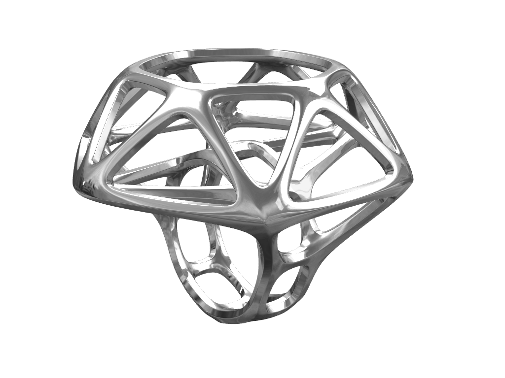 Skeleton Diamond Ring  - 3D design by Michal Fanta Sep 14, 2017