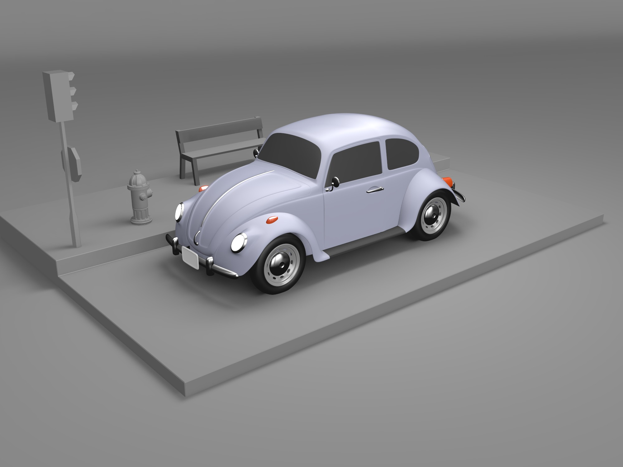 VW Beetle - 3D design by Adrian on Aug 15, 2018