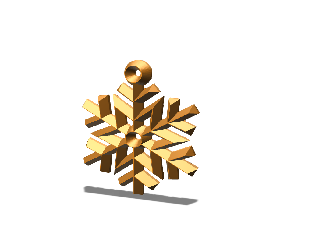 Merry Snowflake - 3D design by DBlea08 Dec 8, 2017