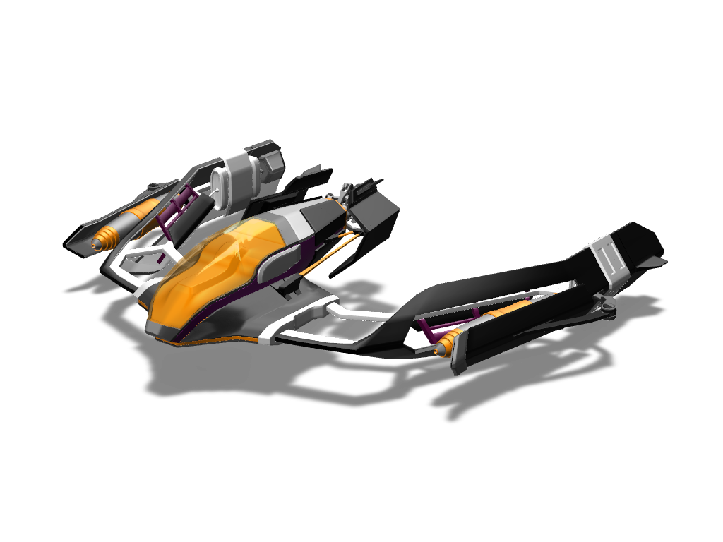 Spaceship - 3D design by VECTARY Aug 1, 2016