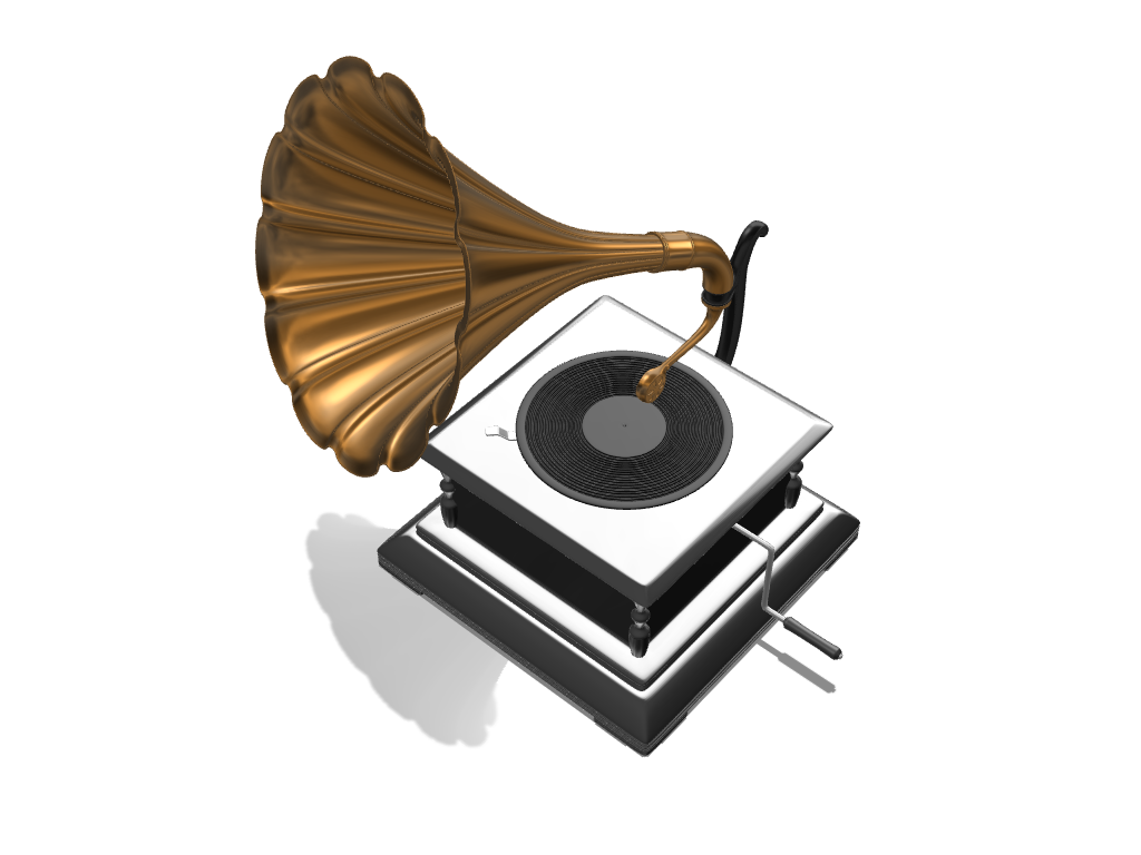 Vintage Gramophone - 3D design by meshtush Dec 15, 2016