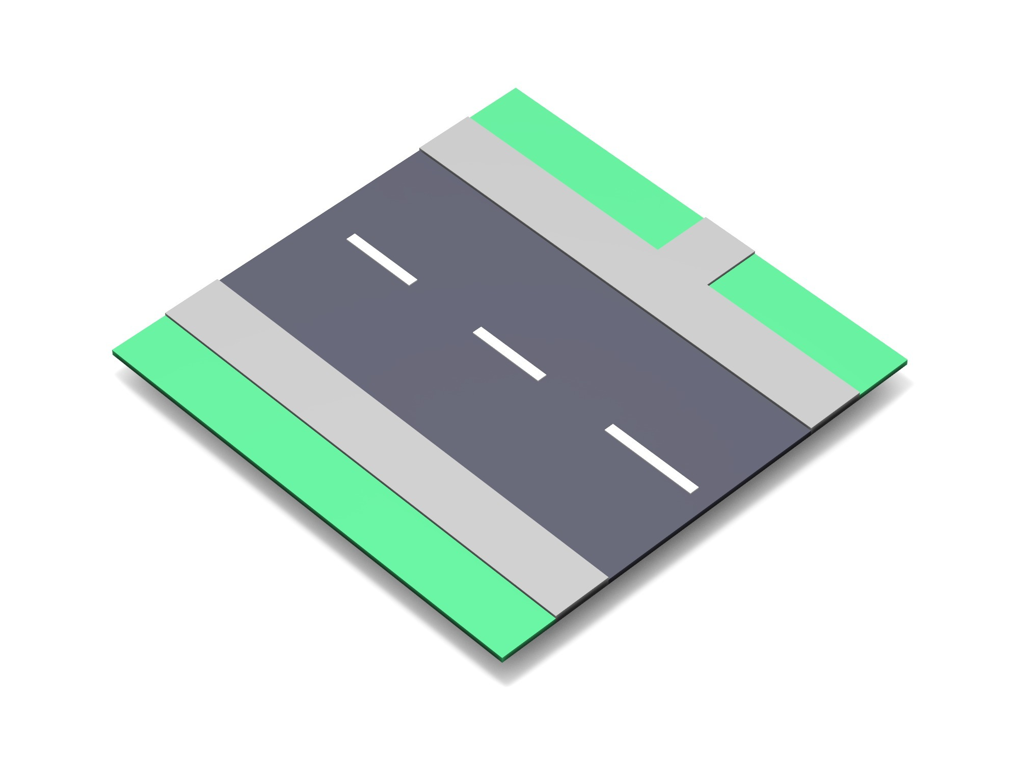 Road with path block - 3D design by Vectary assets Nov 9, 2018