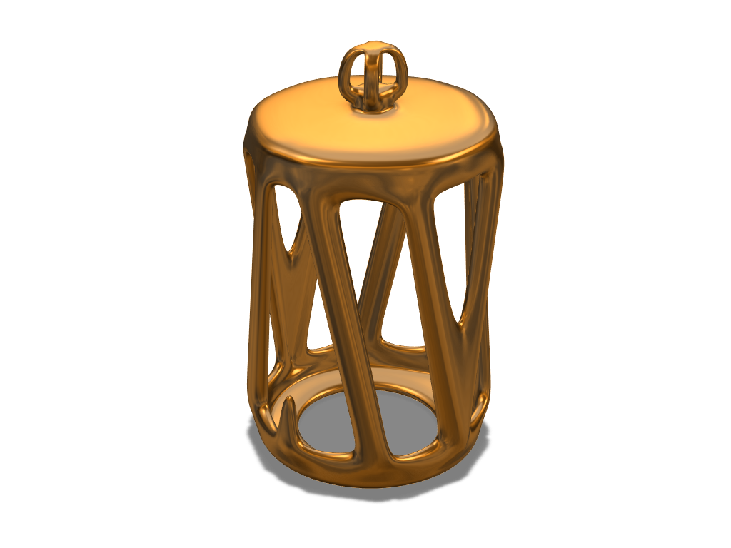 Tube bauble 2 - 3D design by yujojo Dec 19, 2017