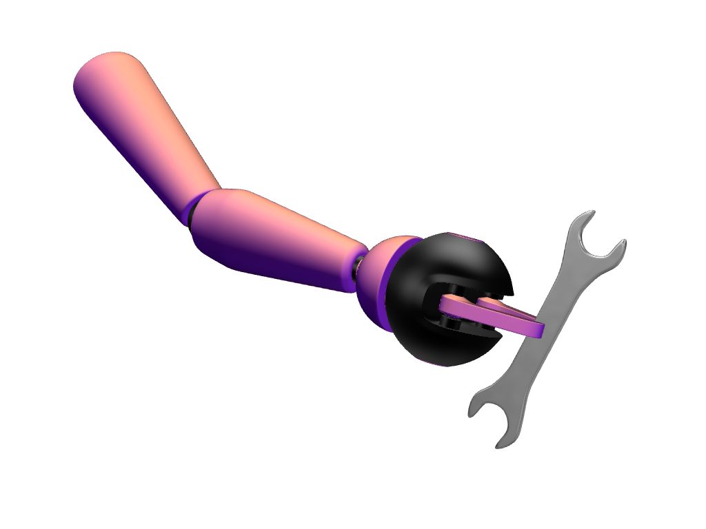 Robotic hand - 3D design by VECTARY Sep 29, 2017