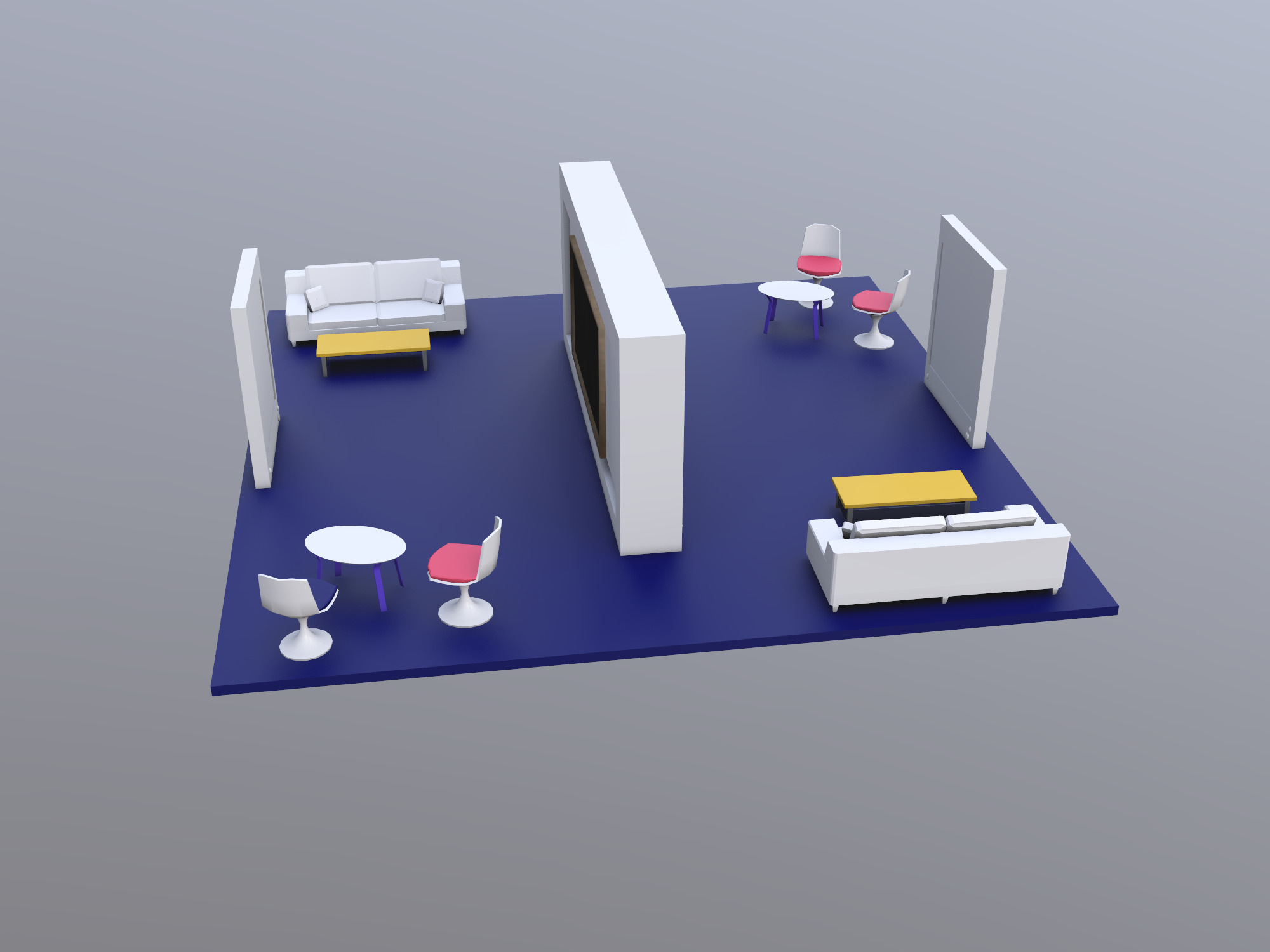 CSI Booth Design Concept - 3D design by Shamir Dawood on Nov 16, 2018