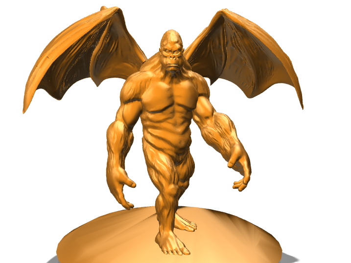 Winged Ape King Miniature - 3D design by kraul.the.kleric on Sep 12, 2017