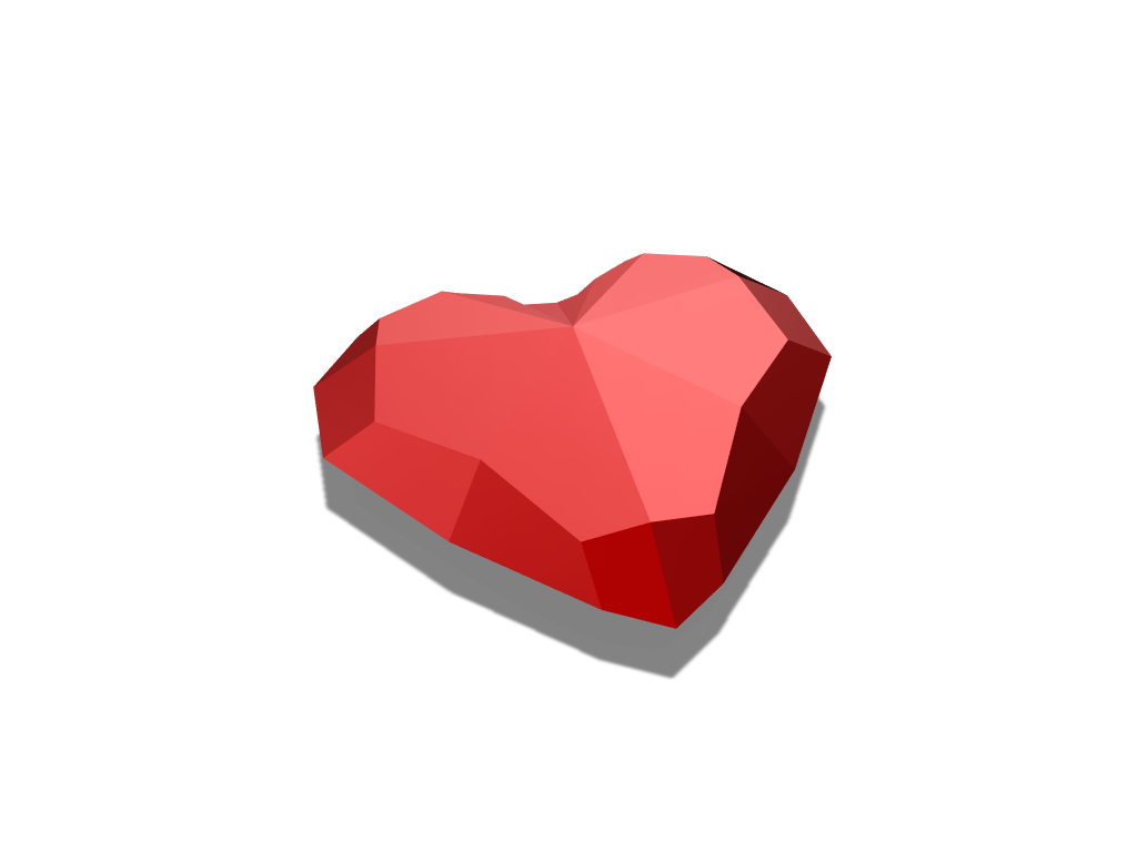 Super Low Poly Heart - 3D design by Kevin Reeks Mar 9, 2018