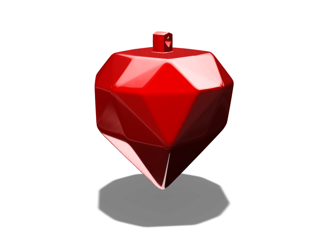Strawberry  bauble - 3D design by fewowuzeco on Dec 20, 2017