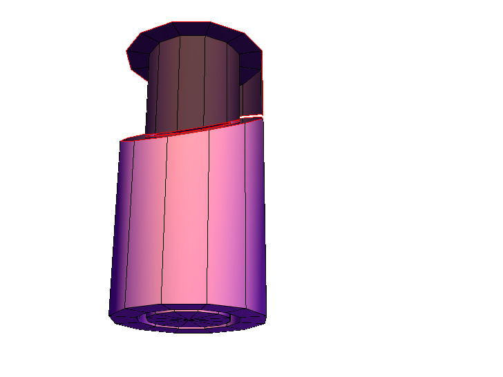 Cylinder within a tube cutout - 3D design by dd4639 on Jan 20, 2018