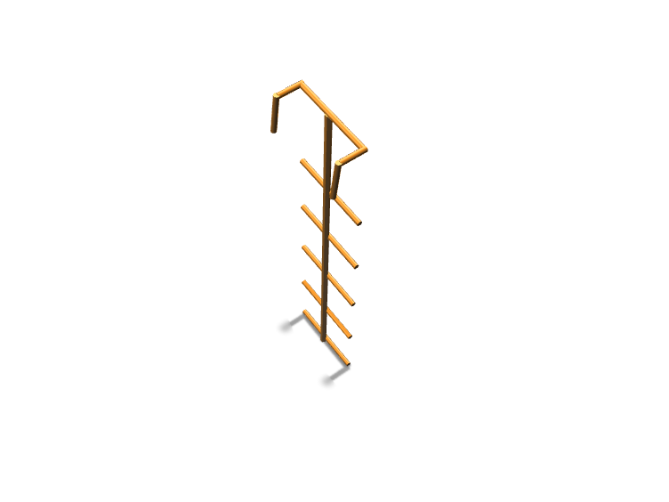 Diving Ladder - 3D design by haiderss2001 on Dec 27, 2017