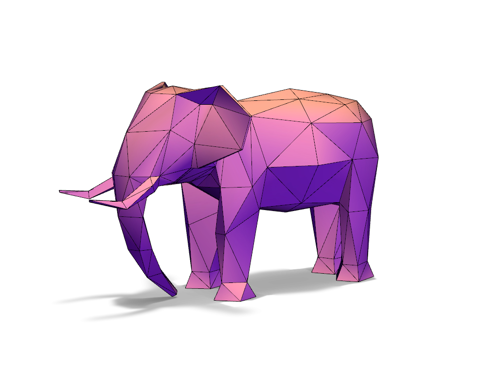 Elephant LowPoly - 3D design by Adrian Nov 3, 2016
