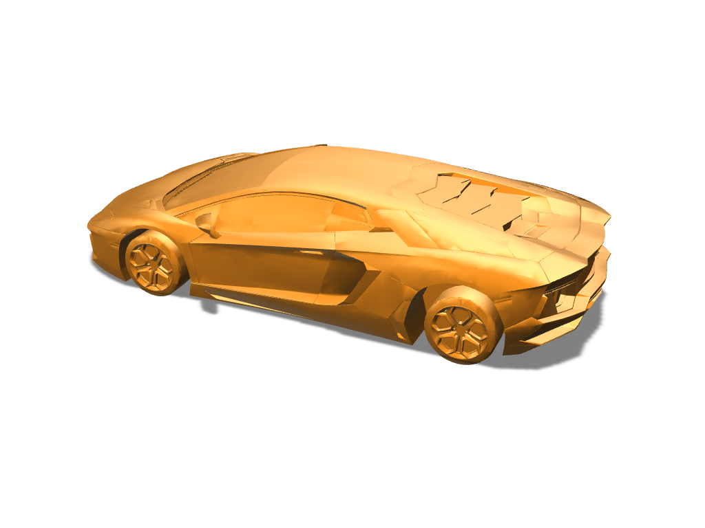 Lamborghini Aventador - 3D design by DBlea08 on Dec 11, 2017
