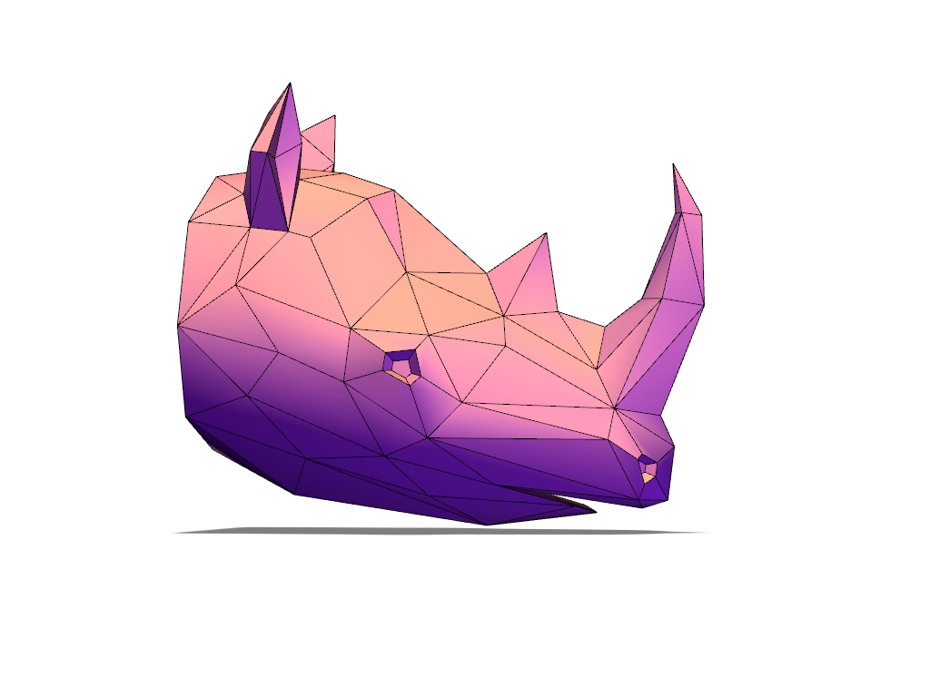 Rhino lowpoly - 3D design by Adrian Oct 21, 2016