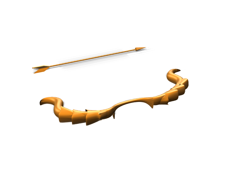 bow and arrow - 3D design by Kat Oct 28, 2017