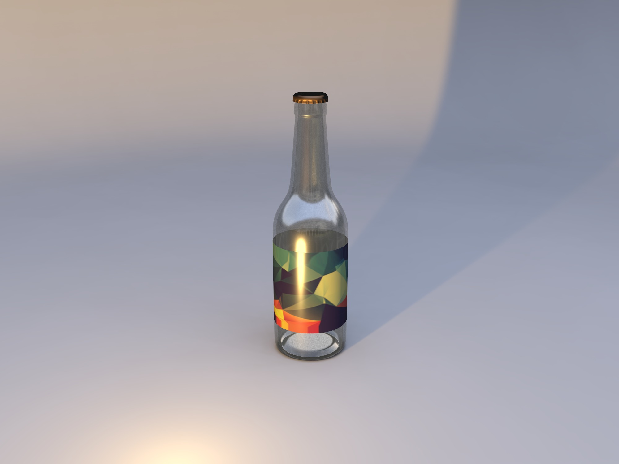Textured Bottle and Etiquette - 3D design by Andy Klement on Sep 18, 2018