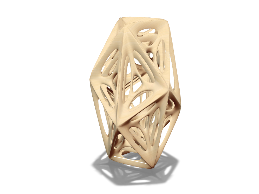 Organic Polyhedron Vase - 3D design by andrewreynolds3d on Aug 26, 2017