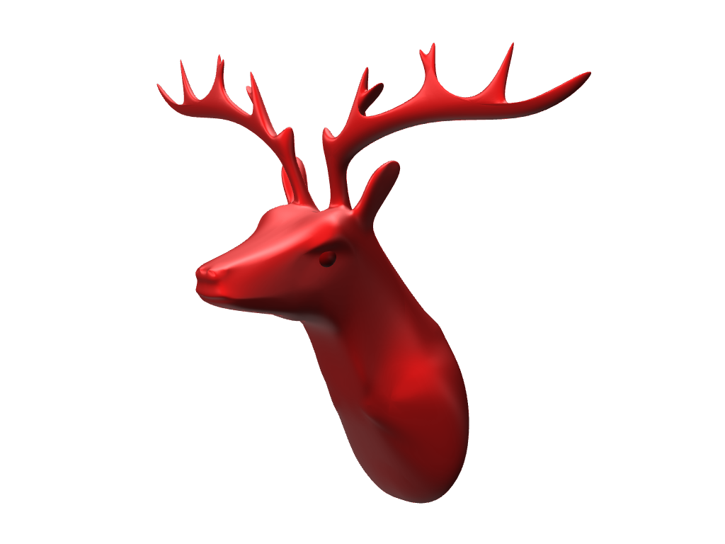 Reindeer bust - 3D design by lewmanuel Nov 15, 2017